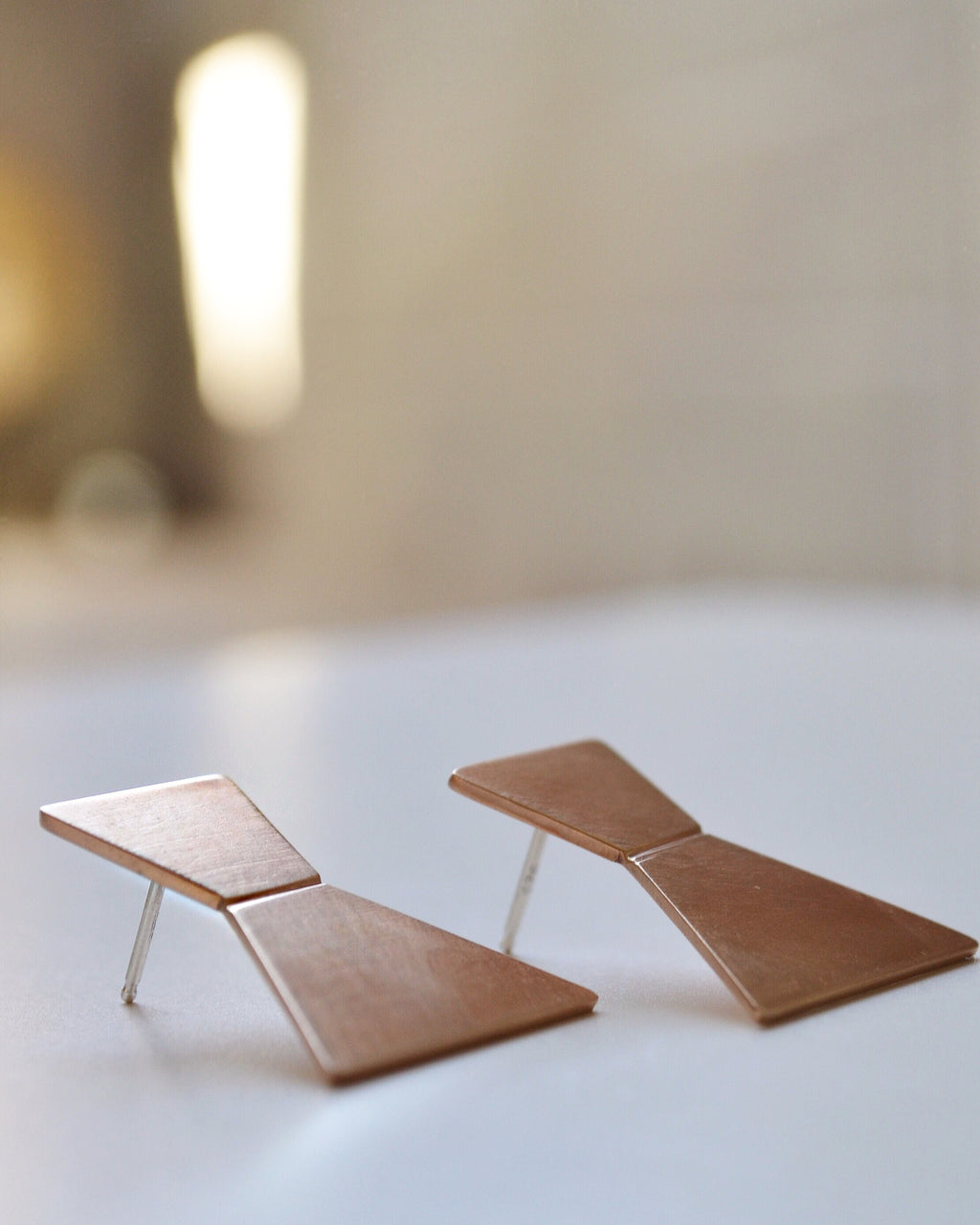 Bronze Geometric Earrings