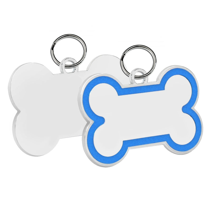 Bone Pet Tag (Blue Enamel)