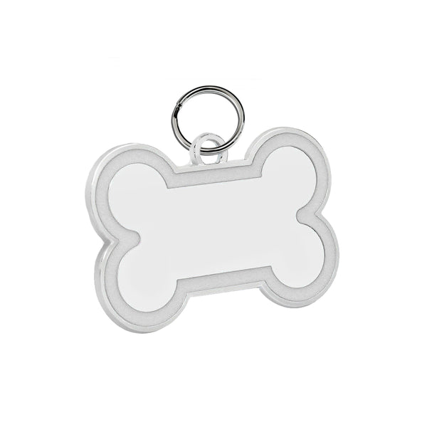 Bone Pet ID Tag (White Enamel)