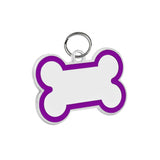 Bone Pet ID Tag (Purple Enamel)