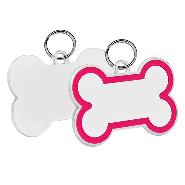 Bone Pet ID Tag (Pink Enamel)