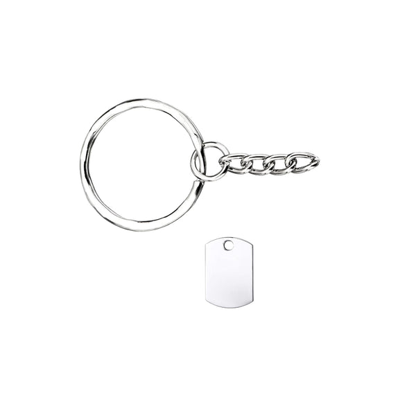 Military Dogtag Keychain (Extra Small)