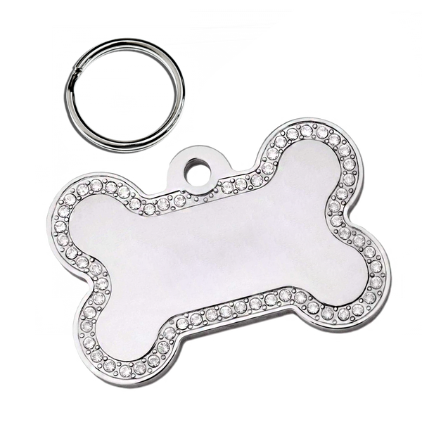 Bone Pet ID Tag (Rhinestones)