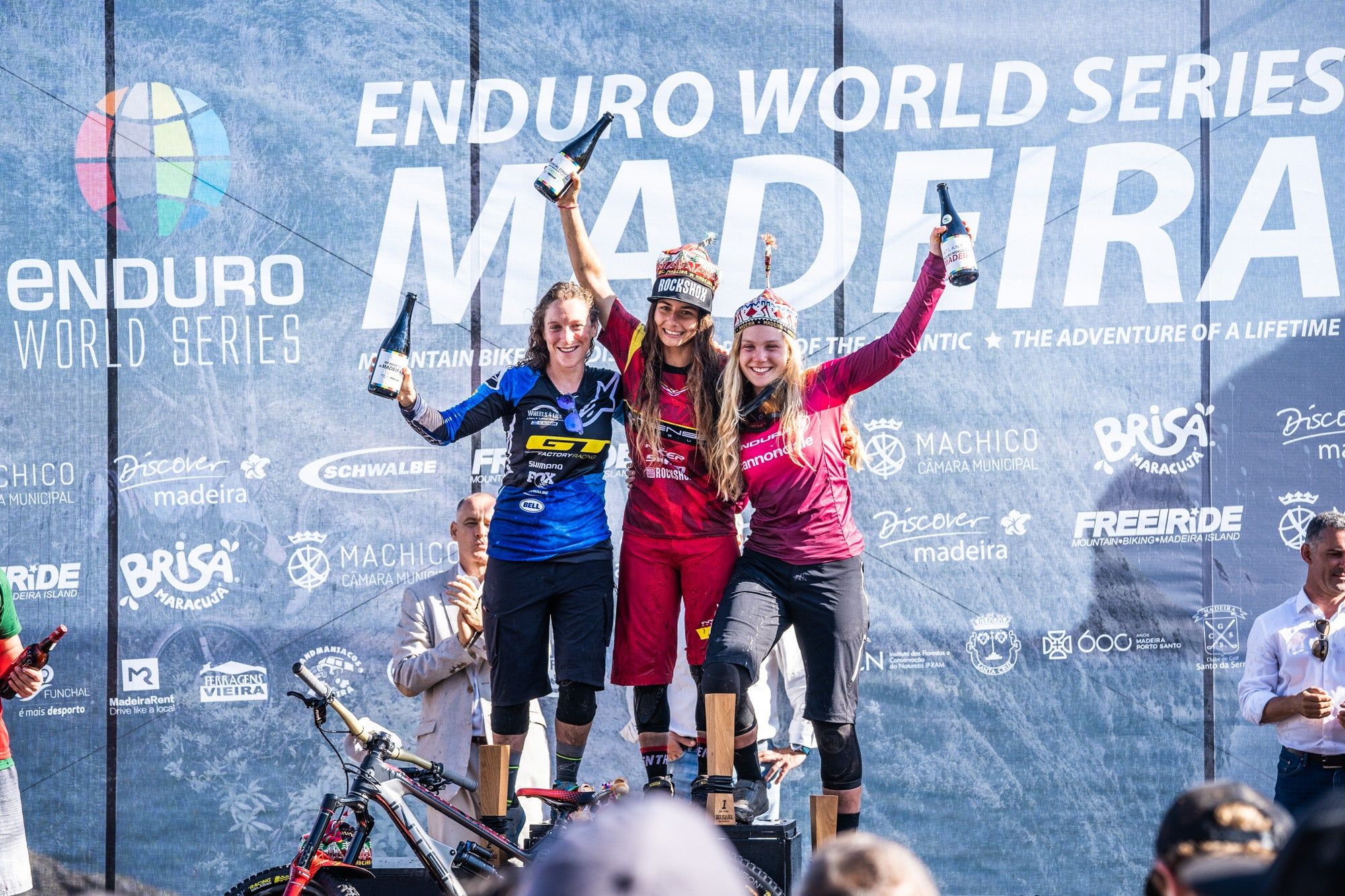 Isabeau Courdurier from the Intense Mavic Collective won the 3rd round of the Enduro World Series in Madeira