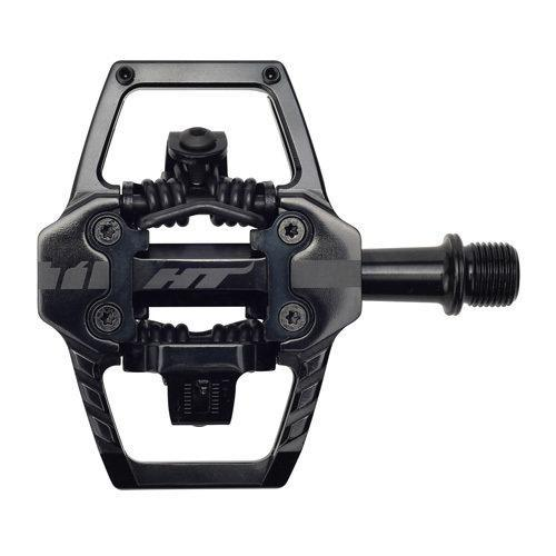 HT Components T1 Clipless Pedals Stealth Black Softgoods Intense LLC Stealth Black