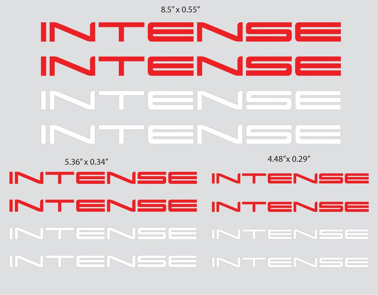 INTENSE LOGO STICKER (SHEET) Softgoods Intense LLC
