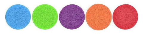 NamasteGolden.com 30mm Aromatherapy 5 Felt Pads in Various Colors