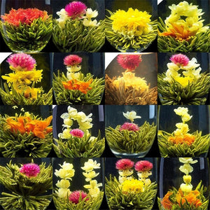 Handmade Natural Flower Blooming Tea Chinese Herbal Balls - Includes 16 Varieties