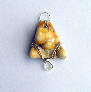 Tampa Bay Agatized Coral Amulet #2