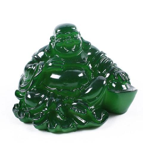 Buddha Statue Green Color-Changing Perfect Tea Temperature Kitchen Figurine