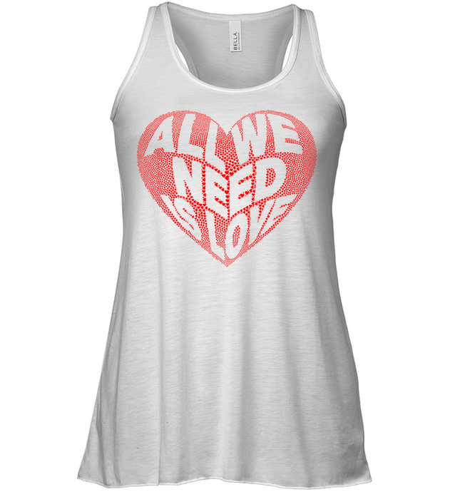 All We Need Is Love Soft Blend Flowy Sleeveless Women Tank Top