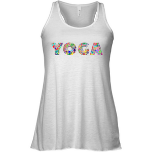 Colorful YOGA Soft Blend Flowy Sleeveless Women Tank Top