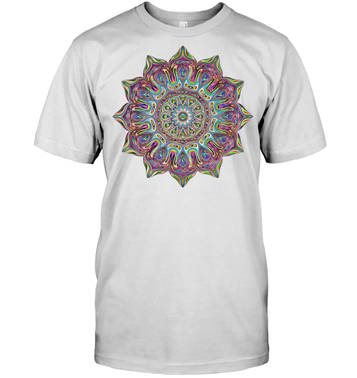 Mandala Fame Soft 100% Cotton Short Sleeve Men Women Unisex T-Shirt