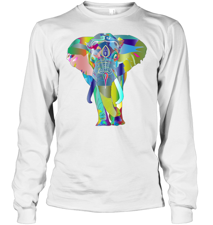 Elephant Ohm Soft 100% Cotton Long Sleeve Men Women Unisex T-Shirt