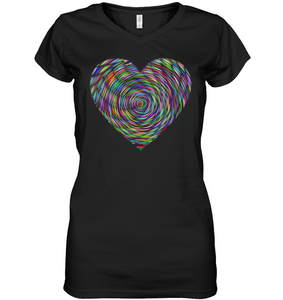 Heart For Art Soft Contoured 100% Cotton Short Sleeve Women V-Neck T-Shirt