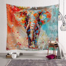 Pastel Elephant Print Tapestry Bohemian Home Decor Wall Hangings Indian Sheet Bedding Sofa Cover - Perfect for Camping / Music Festivals