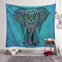Aqua Elephant Tribal Print Wall Hangings Bohemian Home Decor Tapestry Indian Sheet Bedding Sofa Cover - Perfect for Camping / Music Festivals