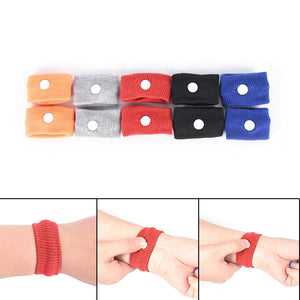 Natural Nausea Relief Travel Band 1 Pair Anti-Nausea Acupressure Wristband for Morning or Sea Sickness How-To Instructions