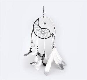 Black & White Yin Yang Dream Catcher Wall Hanging Decoration