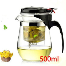 Glass Teapot Chinese Kung Fu 80 Hole Loose Leaf Strainer Flavor Infuser Heat Resistant Tea Kettle