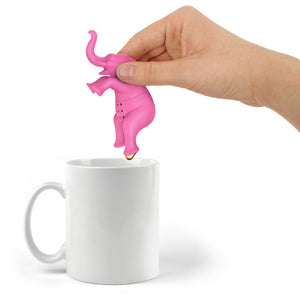 Cute Cartoon Pink Elephant Tea Infuser Brewing Strainer