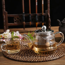 Glass Teapot 304 Stainless Steel Loose Leaf Tea Strainer Heat Resistant Tea Kettle