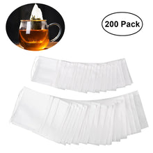 Namaste Golden 200 Pack Empty Drawstring Organic Cotton White Tea Bags