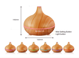 300ml Aromatherapy Essential Oil Diffuser Ultrasonic Air Humidifier - Home Decor