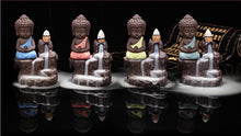 Backflow Incense Burner Ceramic Meditating Buddha Stick Incense Holder Home Decor
