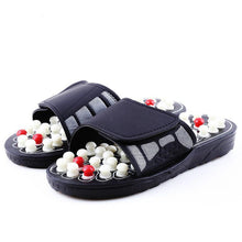 Acupoint Foot Massage Sliders Chinese Acupressure Medical Rotating Foot Massager Sandals