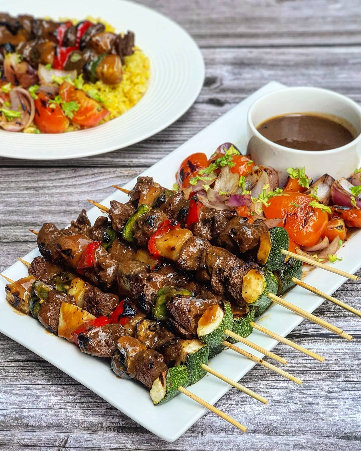 Plant-based ADOBO Kebabs