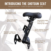 SHOTGUN Kids Bike Seat for Mountain Bikes