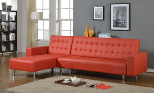 1317 Red Sectional Sofa Bed