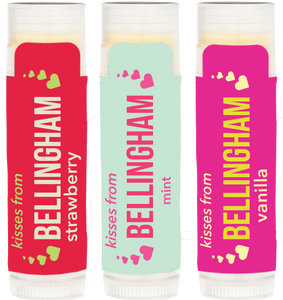 Trio of Strawberry, Mint and Vanilla Kisses From Bellingham