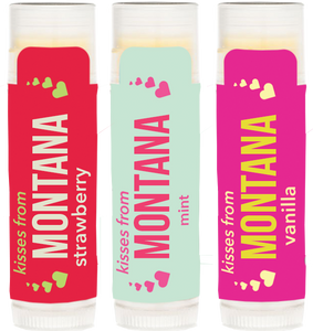 Trio of Strawberry, Mint and Vanilla Kisses From Montana