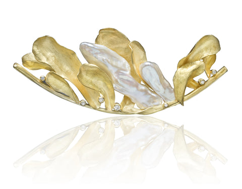 Barbara Heinrich One of a Kind Biwa Pearl Brooch