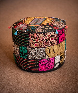 Embroidered Poufs
