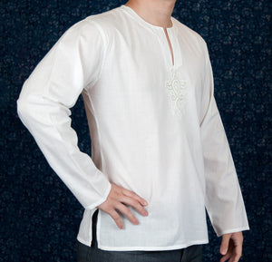 Men's White Cotton Top