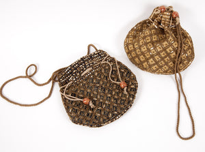 Beaded Gold Pouch Bags