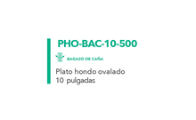 Plato hondo ovalado Desechable Biodegradable 10""
