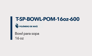 Tapa Bowl Para Sopa Biodegradable 16 oz