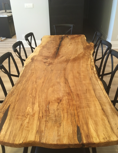 Maple live edge table