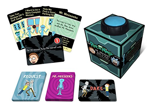 Rick and Morty Mr. Meeseek's Box O' Fun Game of Dice and Dares