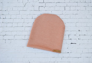 Ribbed Dusty Rose Slouchy Beanie