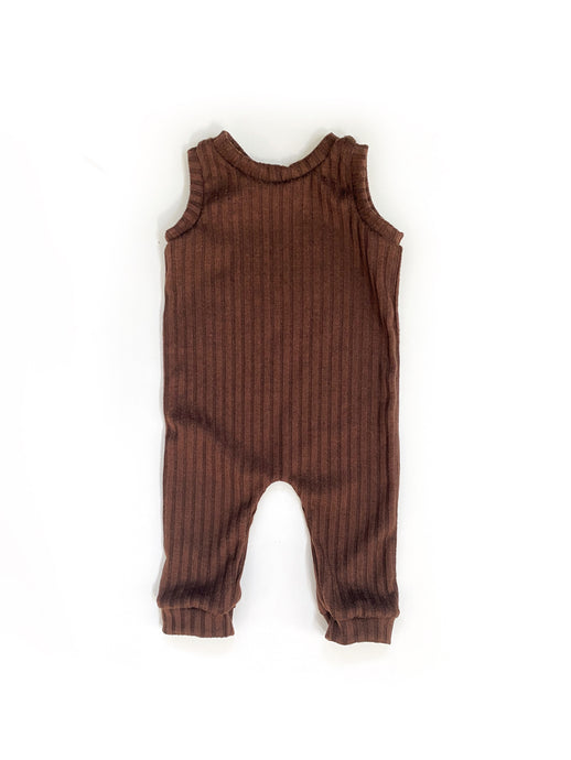Ribbed Hazelnut Snapless Romper