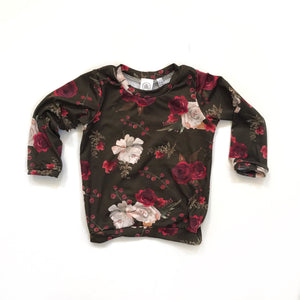 Berry Floral pullover