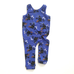 Haunted Mansion Halloween Snapless Romper