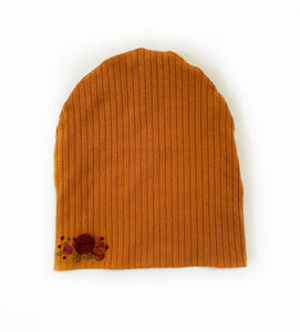 Child size Embroidered Floral Slouchy Beanie