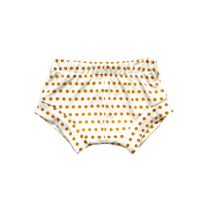 Mustard polka dot shorties
