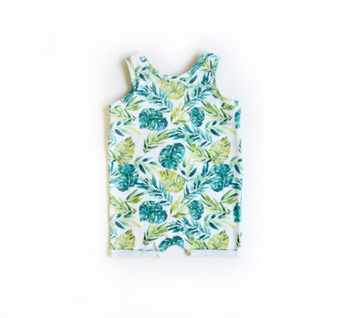Tropical Snapless Romper